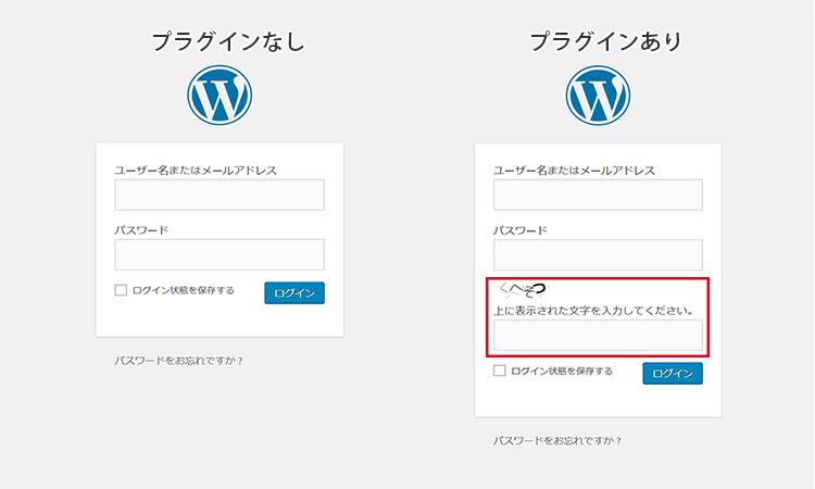 SiteGuard WP Pluginのログイン画面